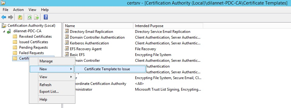 Creating a wild card certificate for remote desktop services now select the rds template we have created few step back and click on ok yelopaper Image collections
